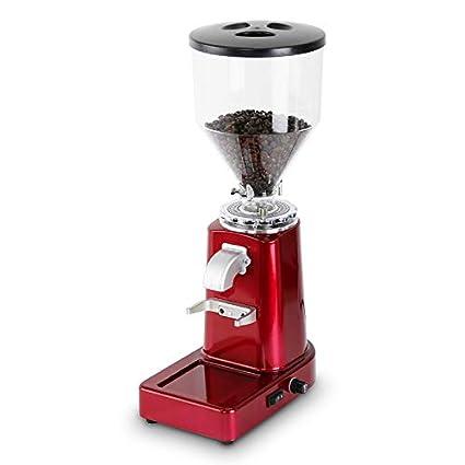 YLLKFJ Máquina de café eléctrica 250W pequeña casa Comercial Profesional café Molino de café Rojo Polvo