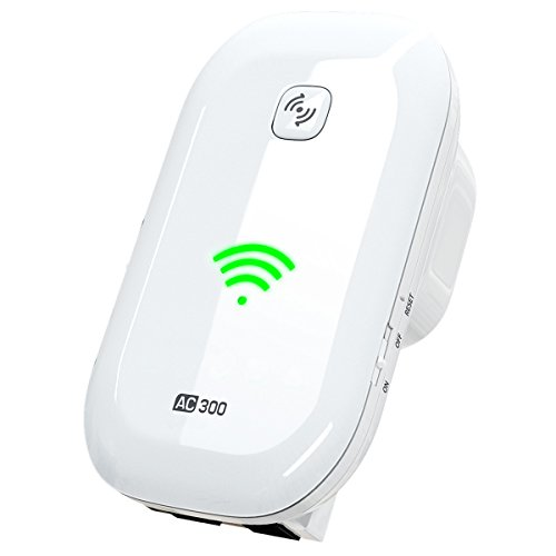 NEWEST 2018 WiFI Extender Internet Booster Signal Extenders Wireless Repeater 2.4GHz Band Up to 300 Mbps - Best Range Network Plug-In - 360 Degree Full Coverage - 33 ft (Verizon Wireless Repeater)