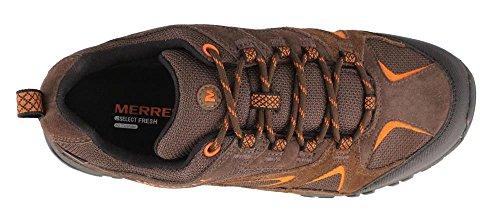 Image of the Merrell Men's Phoenix Bluff Waterproof Hiking Shoe, Dark Brown, 9 W US
