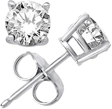 d7f465388 Buy Arisidh Zirconia 92.5 Sterling Silver Single White Stone Solitare Stud  Earrings For Men, Women, Girls & Boys Online at Low Prices in India |  Amazon ...