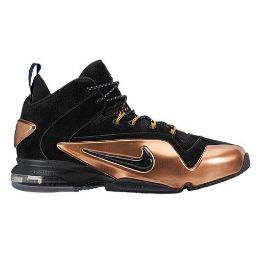 - NIKE Men's Zoom Penny Vi Black/Metallic Copper High-Top Basketball Shoe - 11.5M