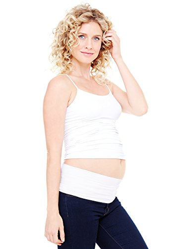 Ingrid & Isabel Women's Maternity Bellaband Basic, White, Medium/Large