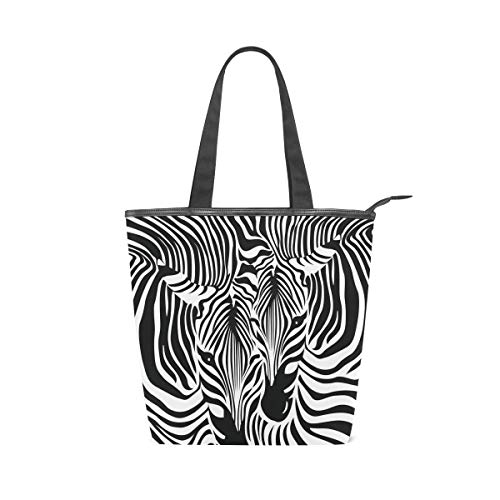 Women Large Tote Top Handle Shoulder Bags Funny Zebra Leopard Print Satchel Handbag ()