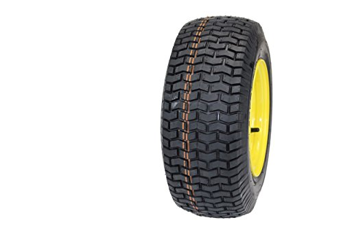 "(Set of 2) 16×6.50-8 Tires & Wheels 4 Ply for Lawn & Garden Mower Turf Tires .75"" Bearing"