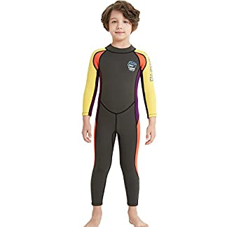 6fab381148cf Dark Lightning Kids Wetsuit, 2mm Neoprene Thermal Swimsuit, Youth Boy's and  Girl's One Piece Wet Suits for Scuba Diving, Full Suit and Shorty Swimsuit