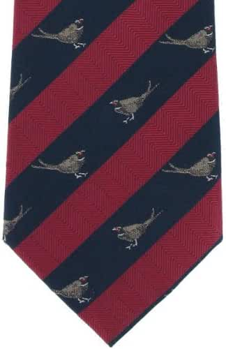 Red Pheasant Silk Tie by Michelsons of London