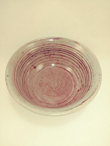 Aunt Chris' Pottery - Limited Edition - Saucier/ Bowl - Glazed Rose Red - Hand Made Clay - Can Be Used For Many Things - Side Plate, Salad Plate, Ice Cream Dish, Pet Dish, Catch All Spot, Ect!