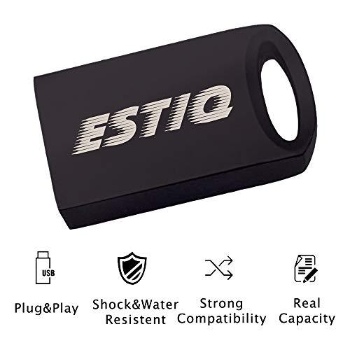 32GB USB Flash Drives, ESTIQ 32GB Flash Drive Storage Super Micro Mini Portable Memory Stick Metal USB 2.0 U-Disk (Ash ()