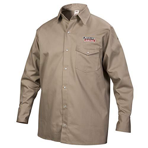 - Lincoln Electric Welding Shirt | Premium Flame Resistant (FR) Cotton | Custom Fit| Khaki / Tan | XL | K3382-XL