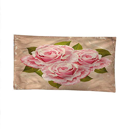 Price comparison product image Roseoutdoor tapestryceiling tapestryPink Bouquet of Flowers 93W x 70L Inch