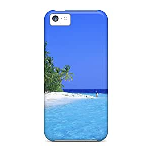 New Iphone 5c Case Cover Casing(blue Water Beach)
