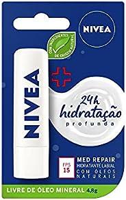 Protetor Labial Nivea Med Repair Fps15 4, 8G, Nivea, Transparente