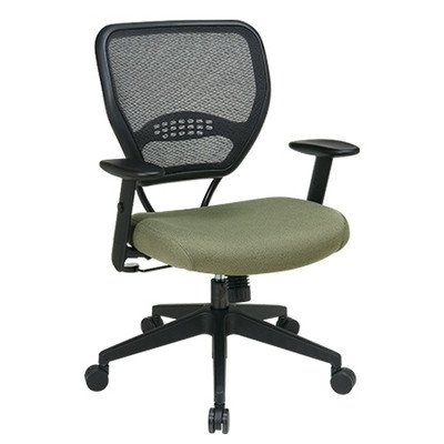 Office Star Matrex Mesh - SPACE Professional Air Grid Matrex Mid-Back Managerial Chair with Arms Fabric: Transport - Ivy