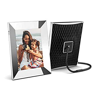 Nixplay 2K Smart Digital Picture Frame 9.7 Inch Silver - Share Moments Instantly via App or E-Mail