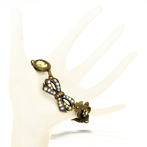 (The Artazia Collection La Contessa Bow and Cameo Floral Bracelet Designed by Mary DeMarco - B8801)