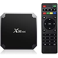 X96 MINI Android TV Box,4K Smart TV Box Android 7.1.2 Set Top Box,Quad Core 2G/16G Ultra HD Streaming Media Players with WiFi