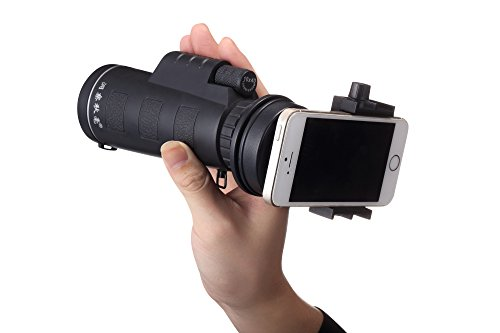 Price comparison product image 10X40 Waterproof Dual Focus Monocular Telescope + Universal Phone Holder for Watching Hunting Camping Hiking Concert