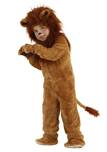 Fun Costumes Toddler Deluxe Lion Costume 2T Brown
