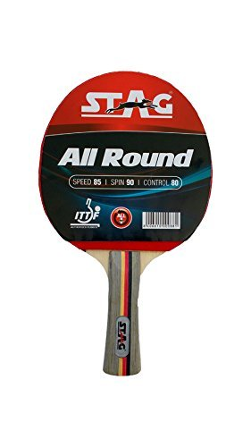 Stagすべてのラウンドテーブルテニスラケットwith ITTF Authorisedゴム   B07BHN2HWZ