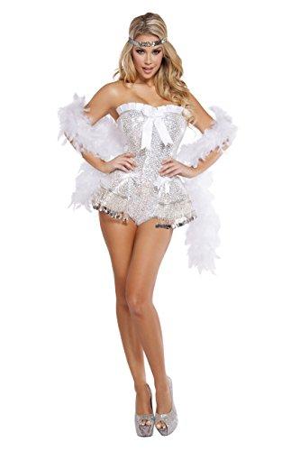 Sexy Flirty Flapper Costumes - Cyberteez Sexy Women's 2pc Flirty Flapper