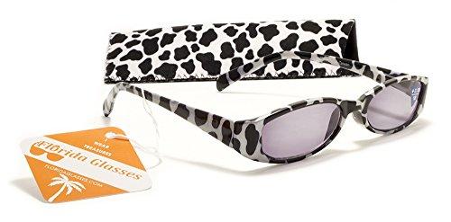 Womens Animal Print Reading Sunglasses w/ Case + 1.50, 2.00, 2.50, 3.00 Power Sun Reader (Strength +2.50, White - Animal Print Glasses