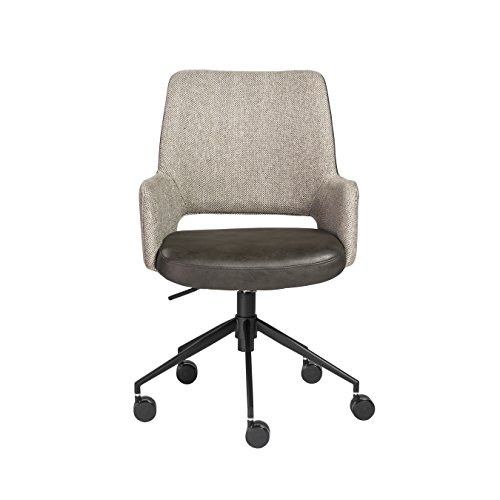 Euro Style 30483DKGRY Desi Office Chair Dark Gray