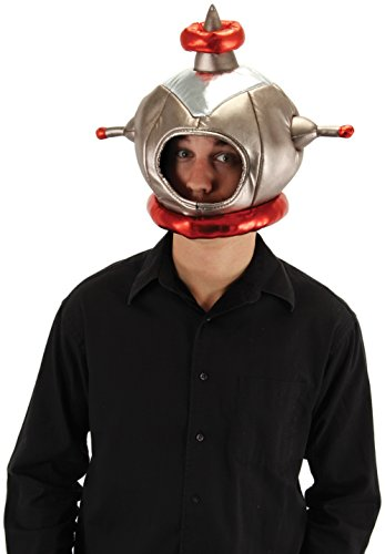 Retro Space Costume (elope Astronaut Plush Costume Helmet for)