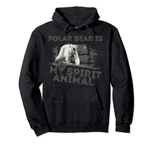 Unisex Polar Bear Is My Spirit Animal Hoodie Small (Black Bear T-shirt Sweatshirt)