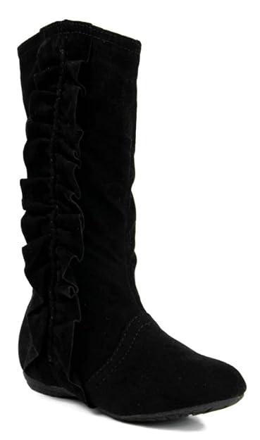 3e765168566b3 Kali Footwear Girls Event Jr Faux Suede Ruffle Boots