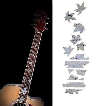 Pegatinas de imitación para guitarra, diseño de flecos de arce: Amazon.es: Instrumentos musicales