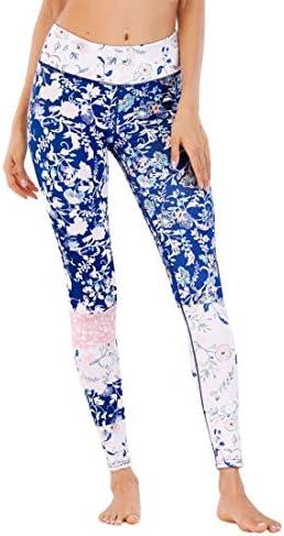 ヨガウェア ヨガパンツプリントカジュアルスポーツフィットネス用ホーム女性ハイウエスト速乾性ランニングパンツおなかコントロールパワーストレッチヨガレギンス