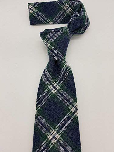 Corbata azul inglés cuadro azul y verde hecho a mano hand made ...