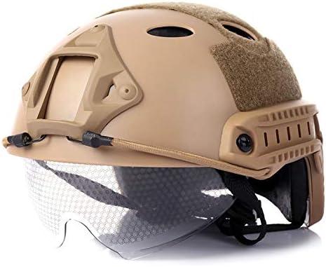 Jackys Casco táctico, Gafas Protectoras Accesorios Paintball máscara de Tiro PJ de reacción rápida Casco táctico
