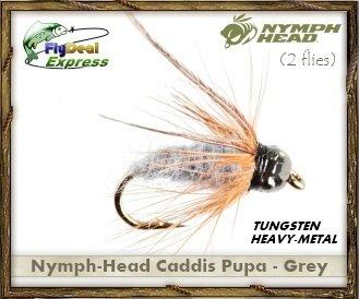 Caddis Pupa Bead (NYMPH-HEAD CADDIS PUPA GREY - Nymph (2-pack))