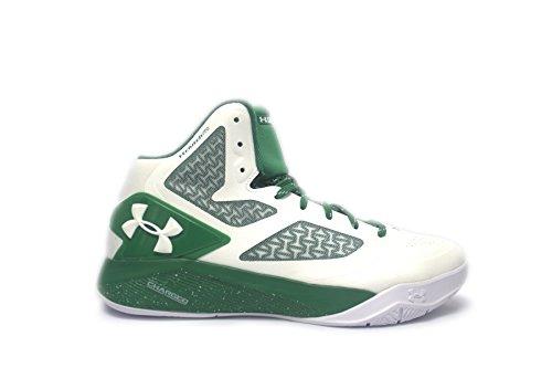 TB ClutchFit Drive 2 Men's Basketball Shoe (9 White/Kelly Green/White)