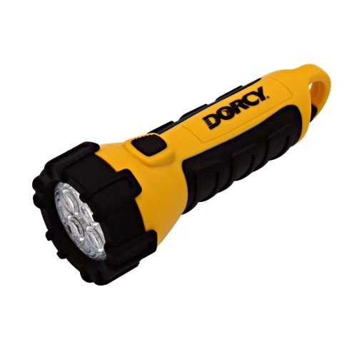 Dorcy 41-2510 Floating Waterproof LED Flashlight with Carabineer Clip, 32-Lumens, Yellow Finish, Outdoor Stuffs