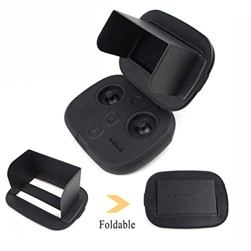 Monitor Sun Hood Transmitters Screen Sunshade for GoPro Karma Drone Remote Controller Foldable Sun shiled (Small, Black) by Hobby-Ace