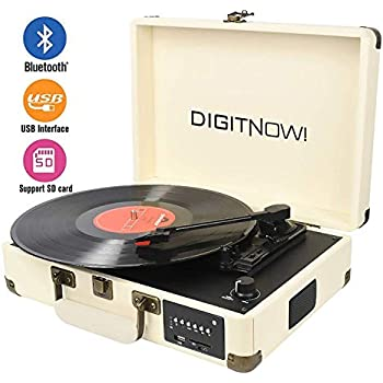 Amazon com: Magnavox 3-Speed Bluetooth Suitcase Turntable 3