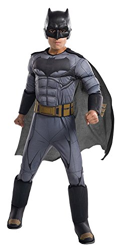 Batman Costumes For Boy (Rubie's Costume Boys Justice League Deluxe Batman Costume, Small, Multicolor)