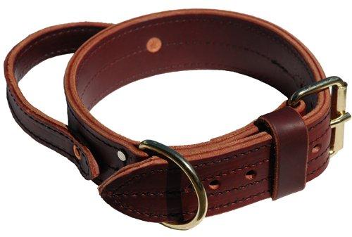Signature K9 Heavy Agitation Collar with Handle, 2-Inch, Burgundy, My Pet Supplies