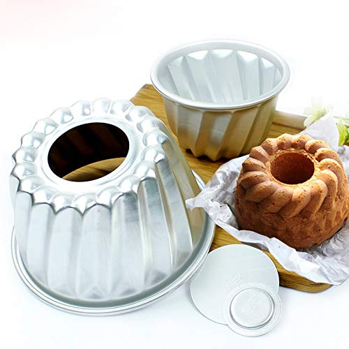 Best Quality - Other Cake Tools - pcs 4inch (Dia 11cm) Aluminum Alloy Mini Savarin Cake Pan Removable Bottom Pudding Mold Bundt Cakes Mould DIY Baking Tools - by JefreyF - 1 PCs -