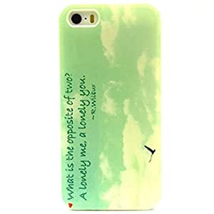 For ipod Touch 4 Case, Green Opposite Lonely Me You Quotes Clear Bumper Case Silicone Skin Cover for For ipod Touch 4 5