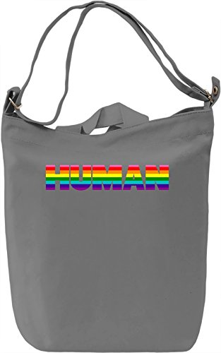 Human Borsa Giornaliera Canvas Canvas Day Bag| 100% Premium Cotton Canvas| DTG Printing|