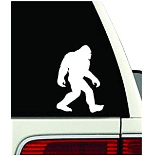 Premium Quality Vinyl CMI106 Bigfoot Sasquatch Car Window White Vinyl Decal Sticker 7.25 Tall CMI106