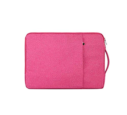 Price comparison product image Nylon Laptop Bag Case for Asus Zipper Handbag Sleeve Cover Laptop Bags for Both Men and Women, Rose Red, Rog Strix Scar 15.6