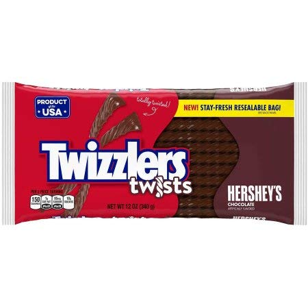 Twizzlers Twists Hershey's Chocolate Licorice Candy (Pack of 8) by Twizzlers