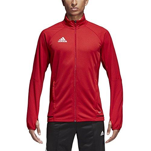 Adidas Tiro 17 Mens Soccer Training Jacket XL Power Red-Black-White