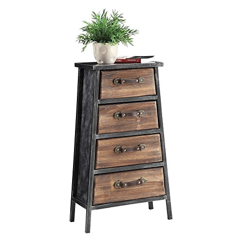 4D Concepts 4-Drawer Chest in Black and Gray