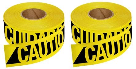 Empire Level 76-0600 Reinforced Construction Grade Caution Tape, 500 Feet by 3-Inch (2-(Pack))