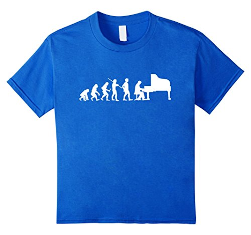 Kids Evolution Piano Player Pianist Funny T-shirt Orchestra Gift 10 Royal - T-shirt Evolution Kids